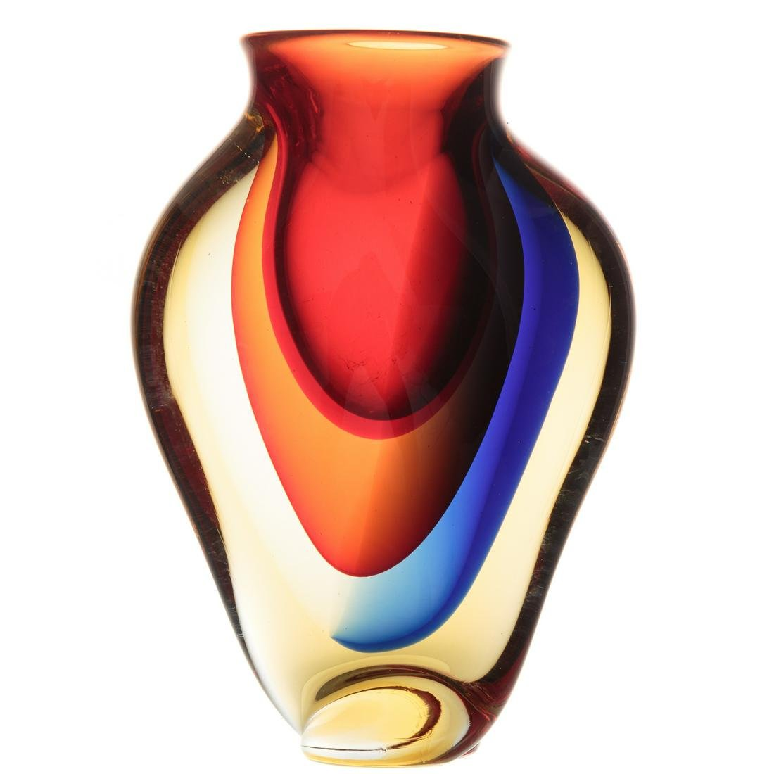 Italian Art Glass Vase By Walter Furlan