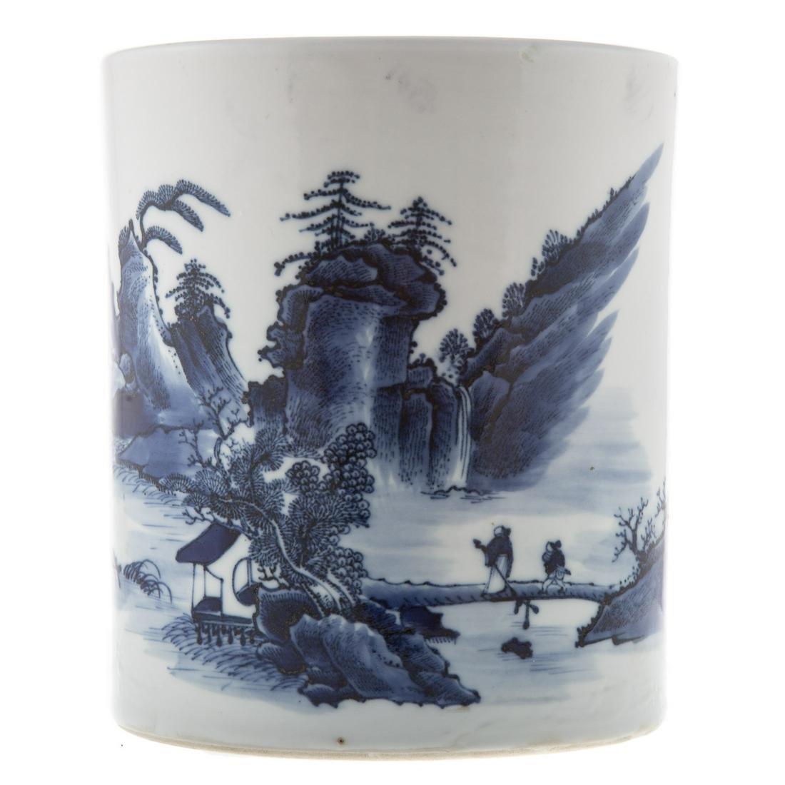 Chinese Blue/White Porcelain Brush Wash
