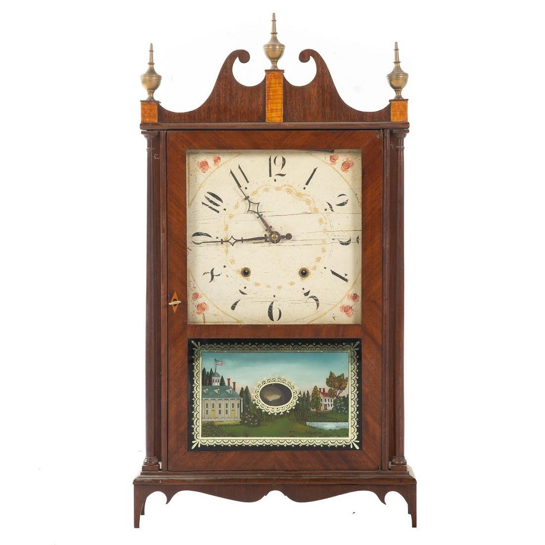 Eli Terry Pillar & Scroll Mantel Clock