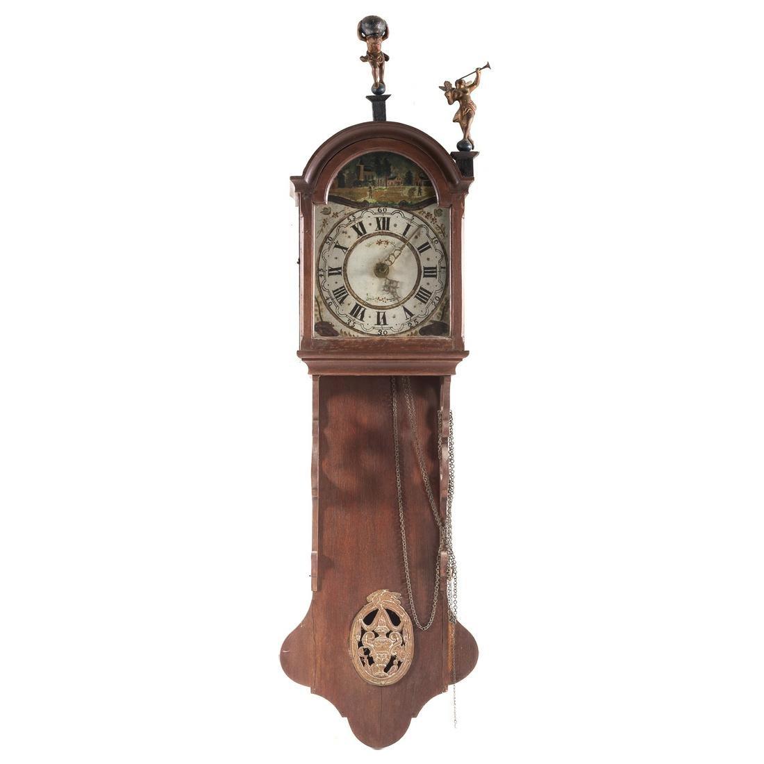 Dutch Oak Frisian Tail Wall Clock