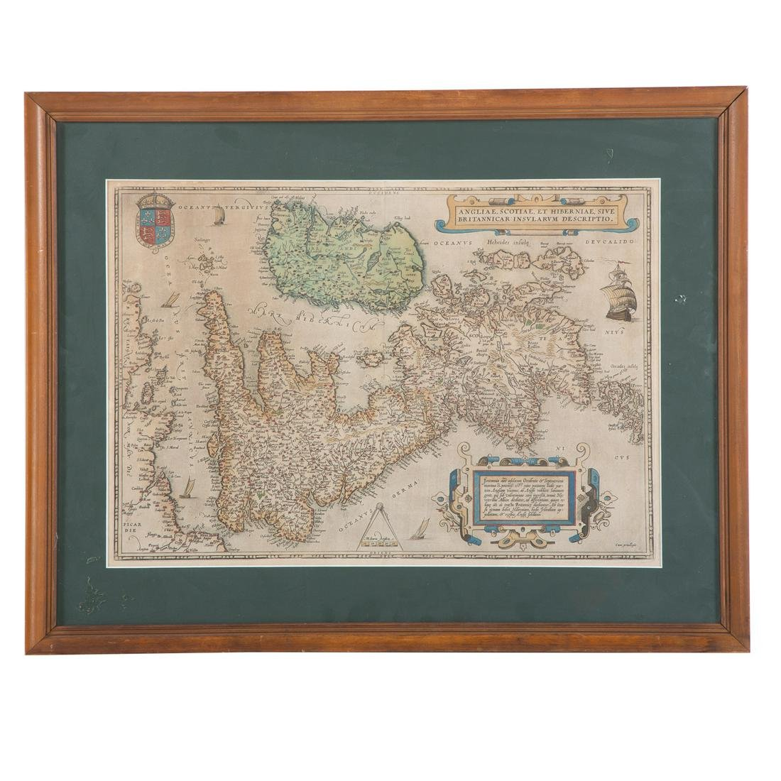Angliae, Scotiae, Et Hiberniae Map