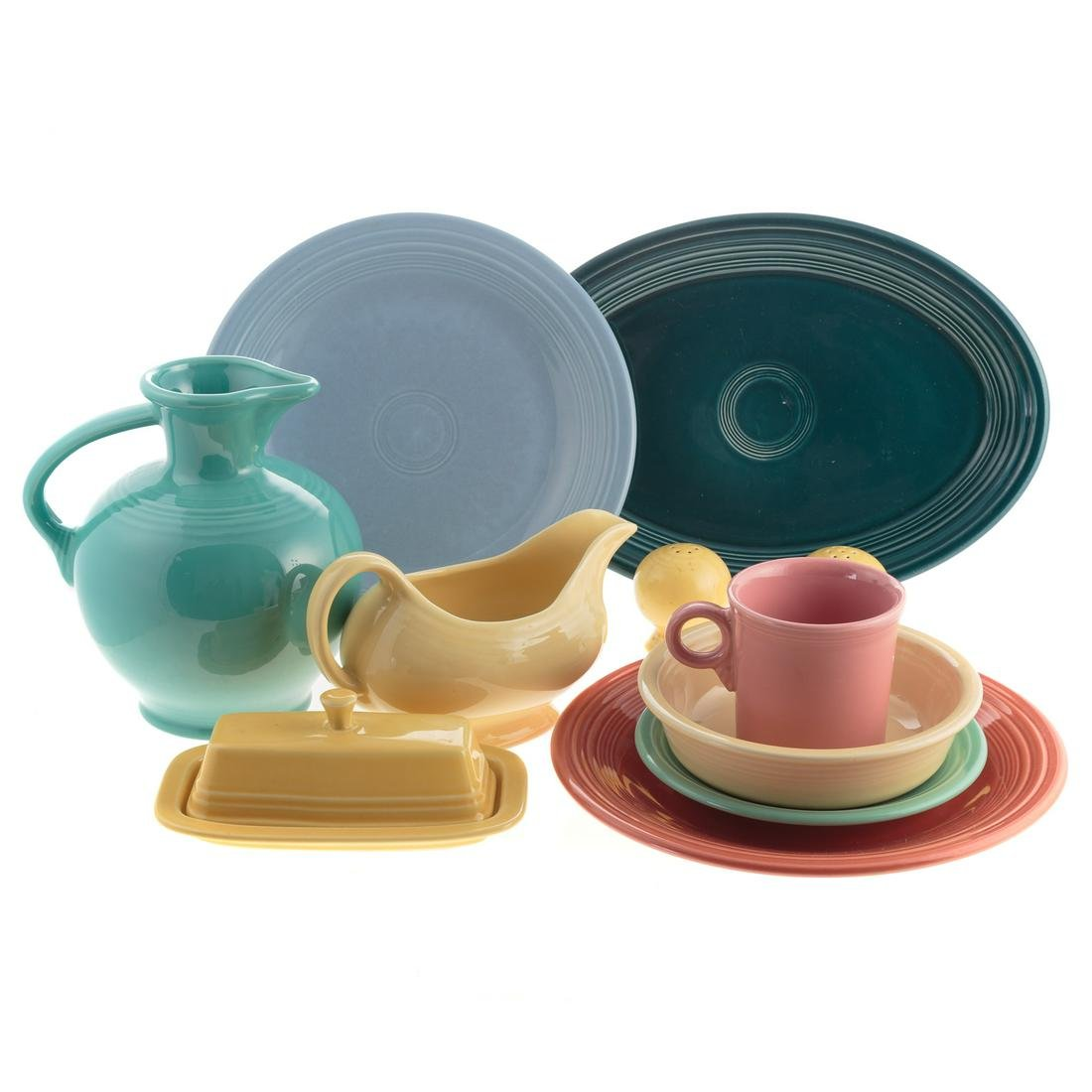 Fiestaware China Partial Dinner Service