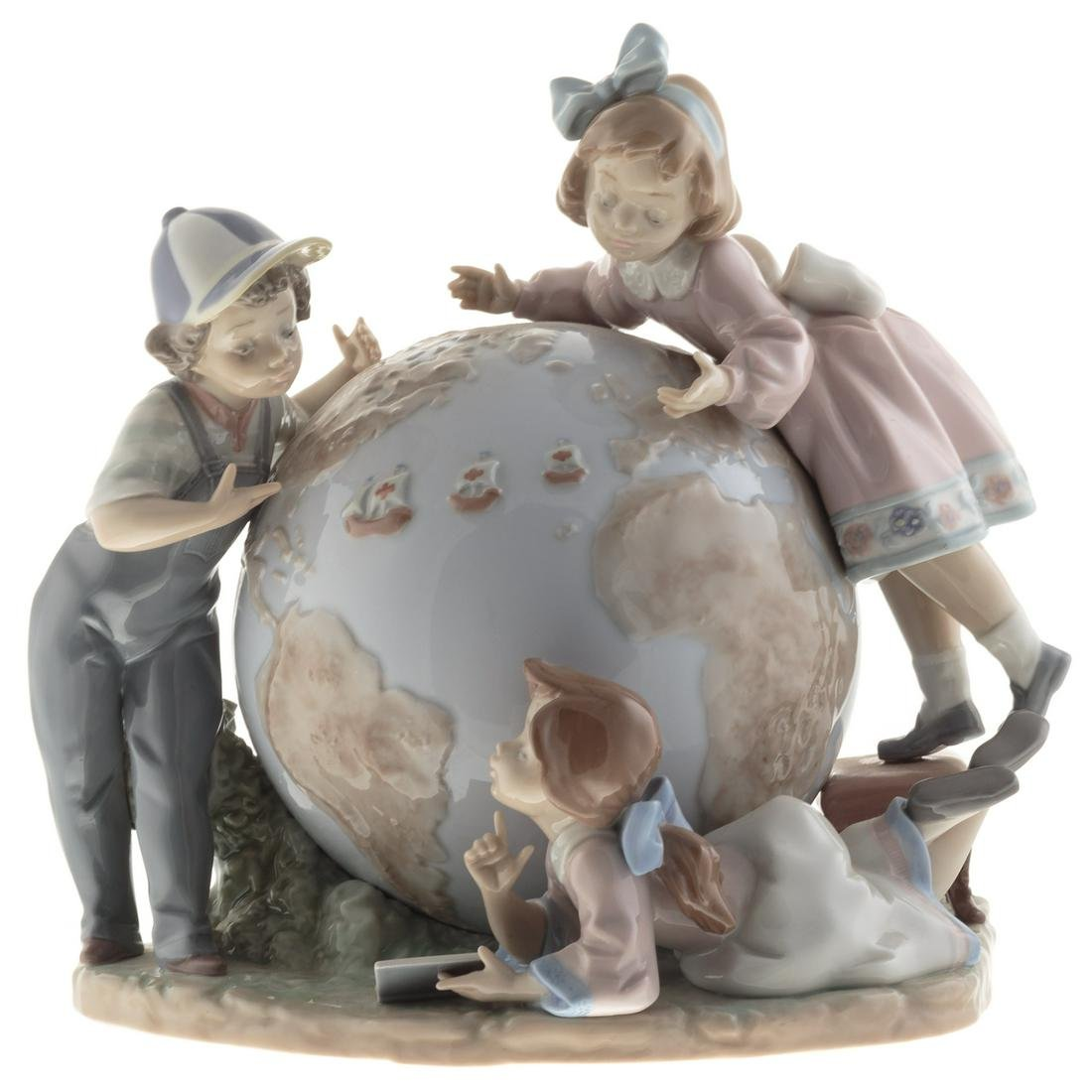 Lladro Porcelain Group, The Voyage Of Columbus