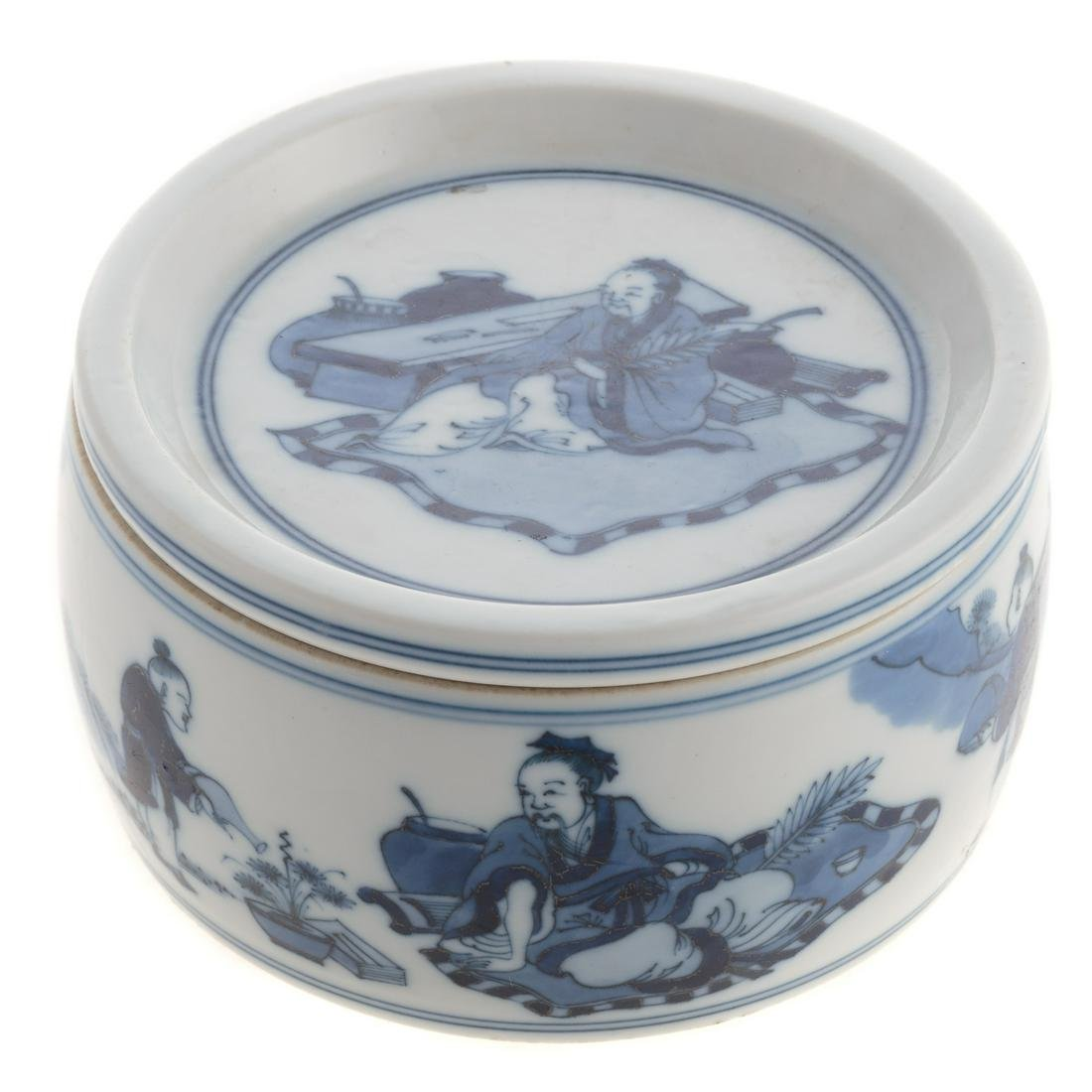Chinese Blue & White Porcelain Box