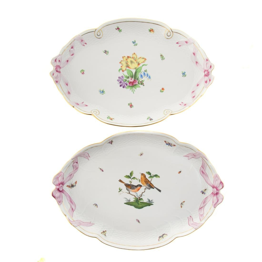 Two Herend Porcelain Platters