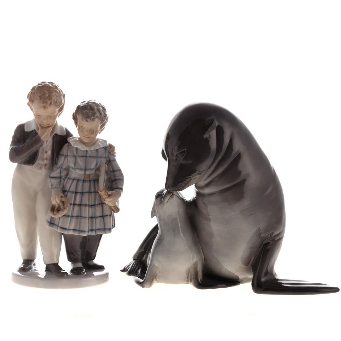 Two Royal Copenhagen Porcelain Figural Groups