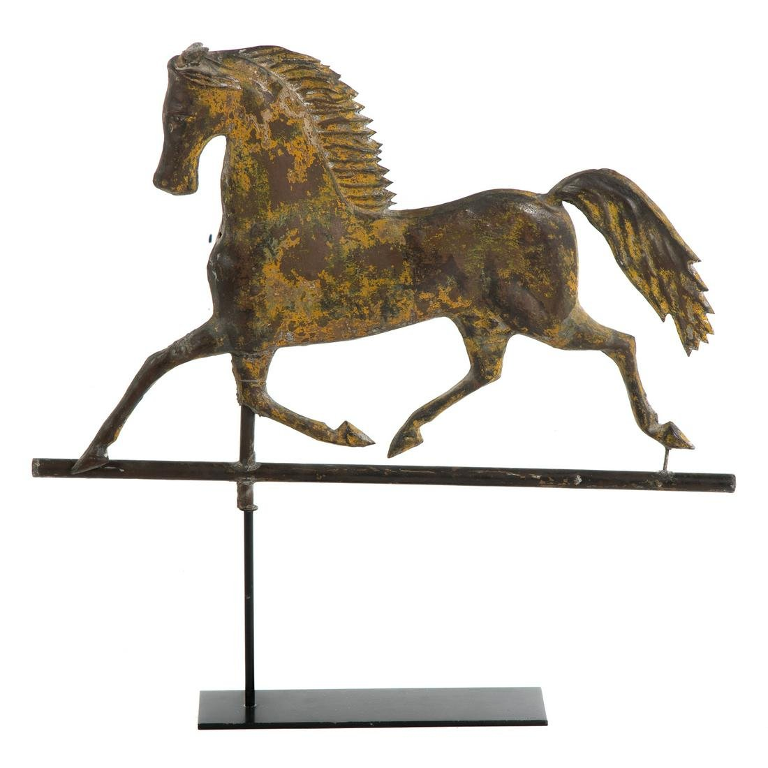 American Sheet Copper Prancing Horse Weather Vane