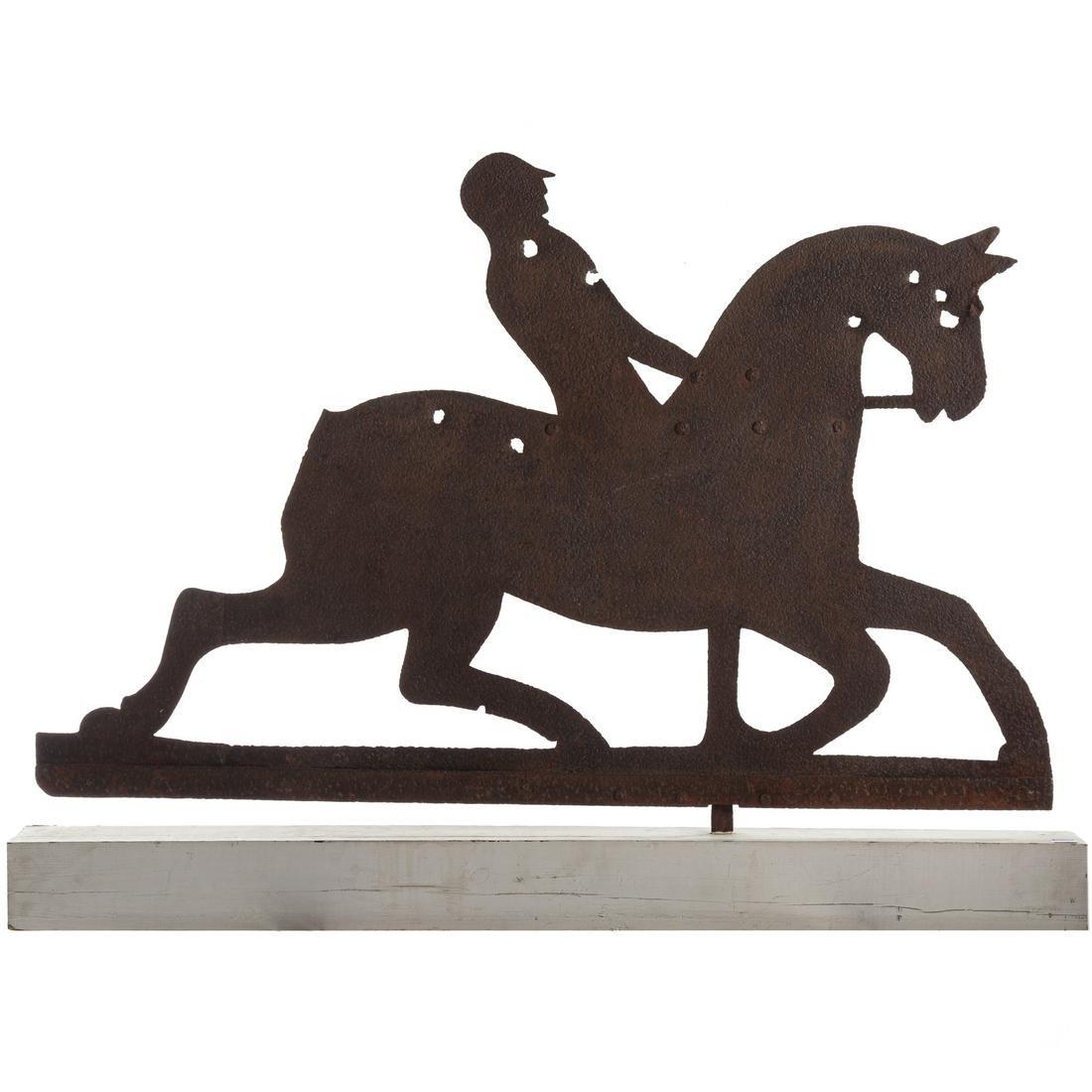 American Sheet Iron Horse/Jockey Weathervane