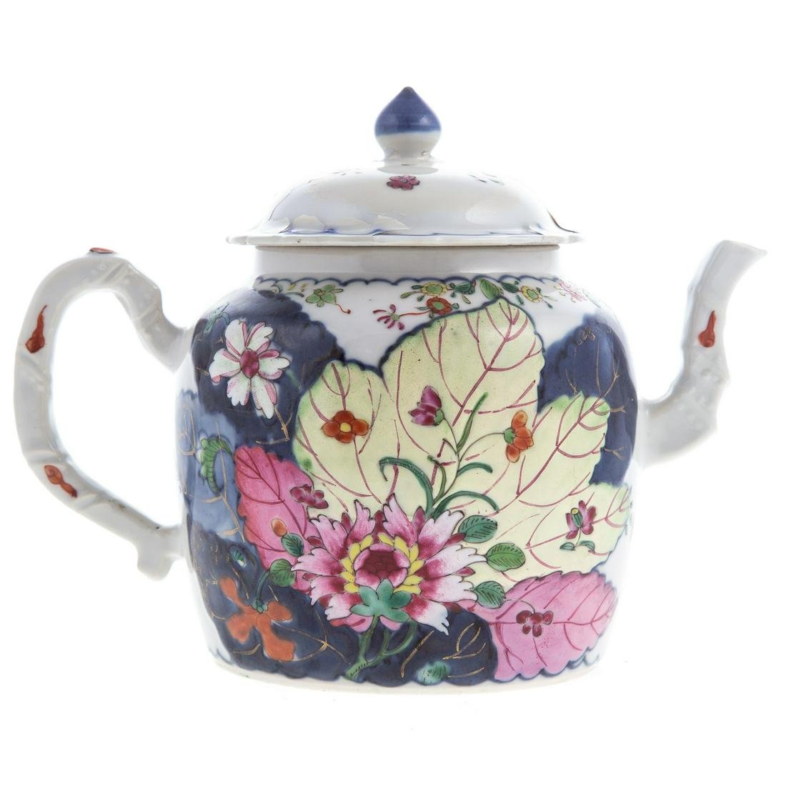 Chinese Export Tobacco Leaf Teapot