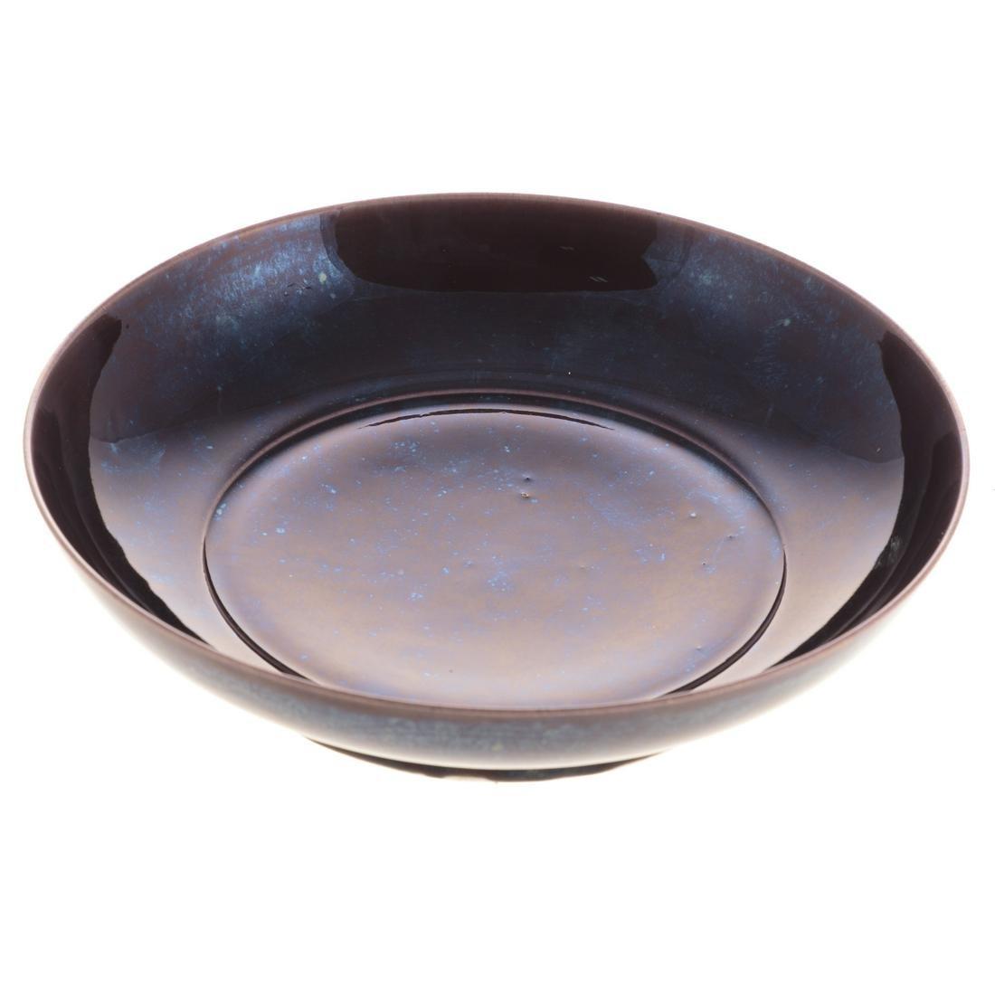 Chinese Aubergine Monochrome Porcelain Bowl