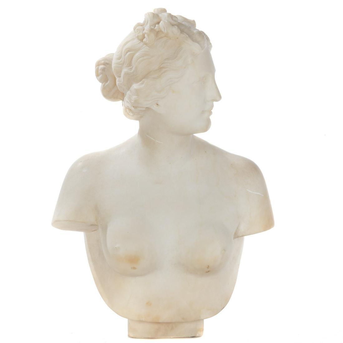 Grande Tour Carved Marble Venus