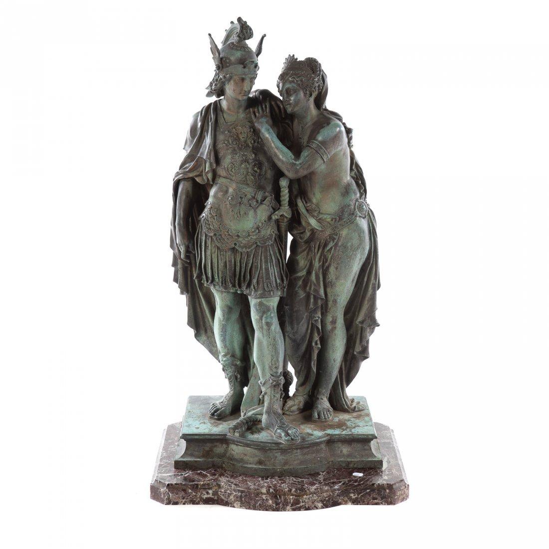 After Jean Baptiste Germain Aeneas/ Dido Bronze
