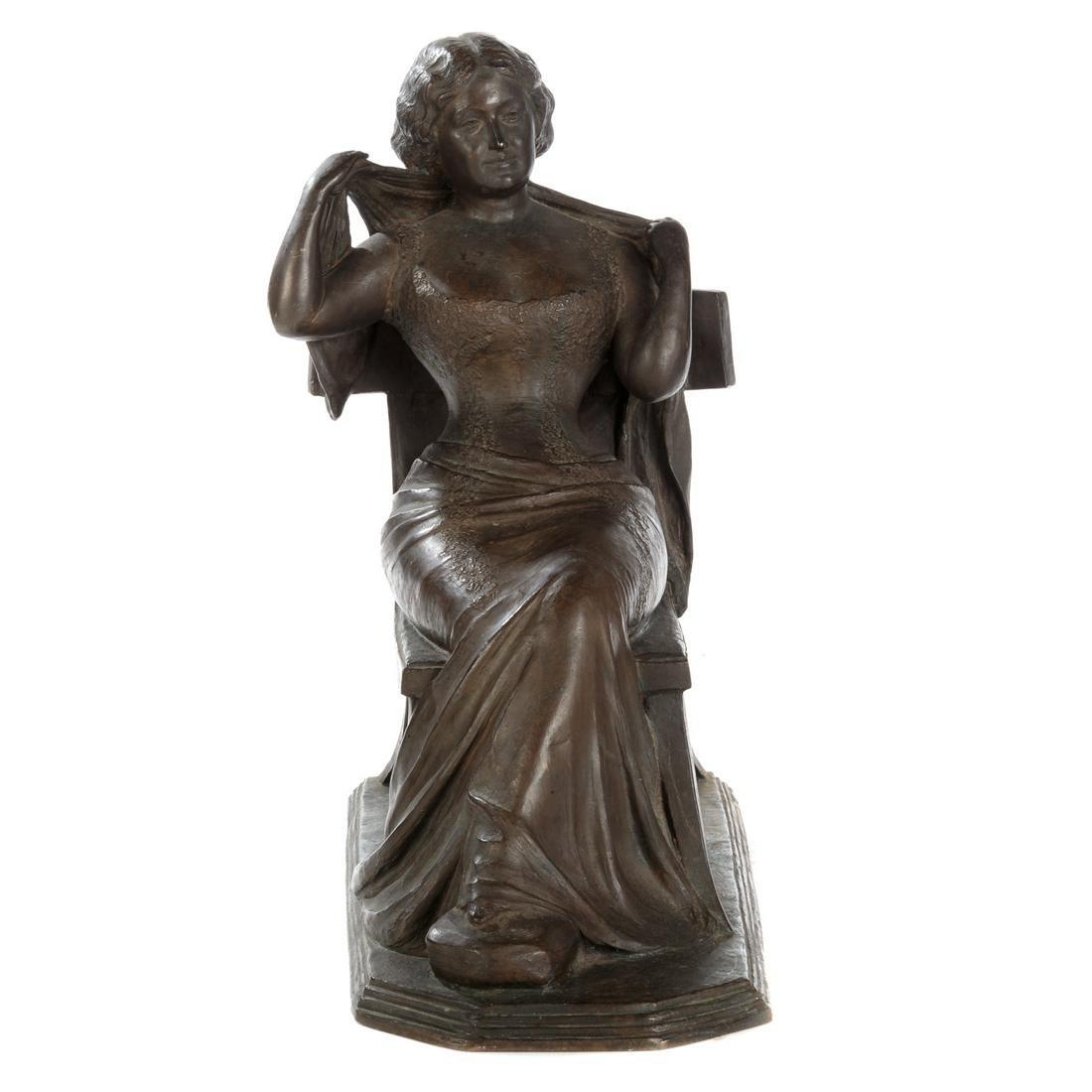 Jonathan S. Hartley Seated Woman Bronze