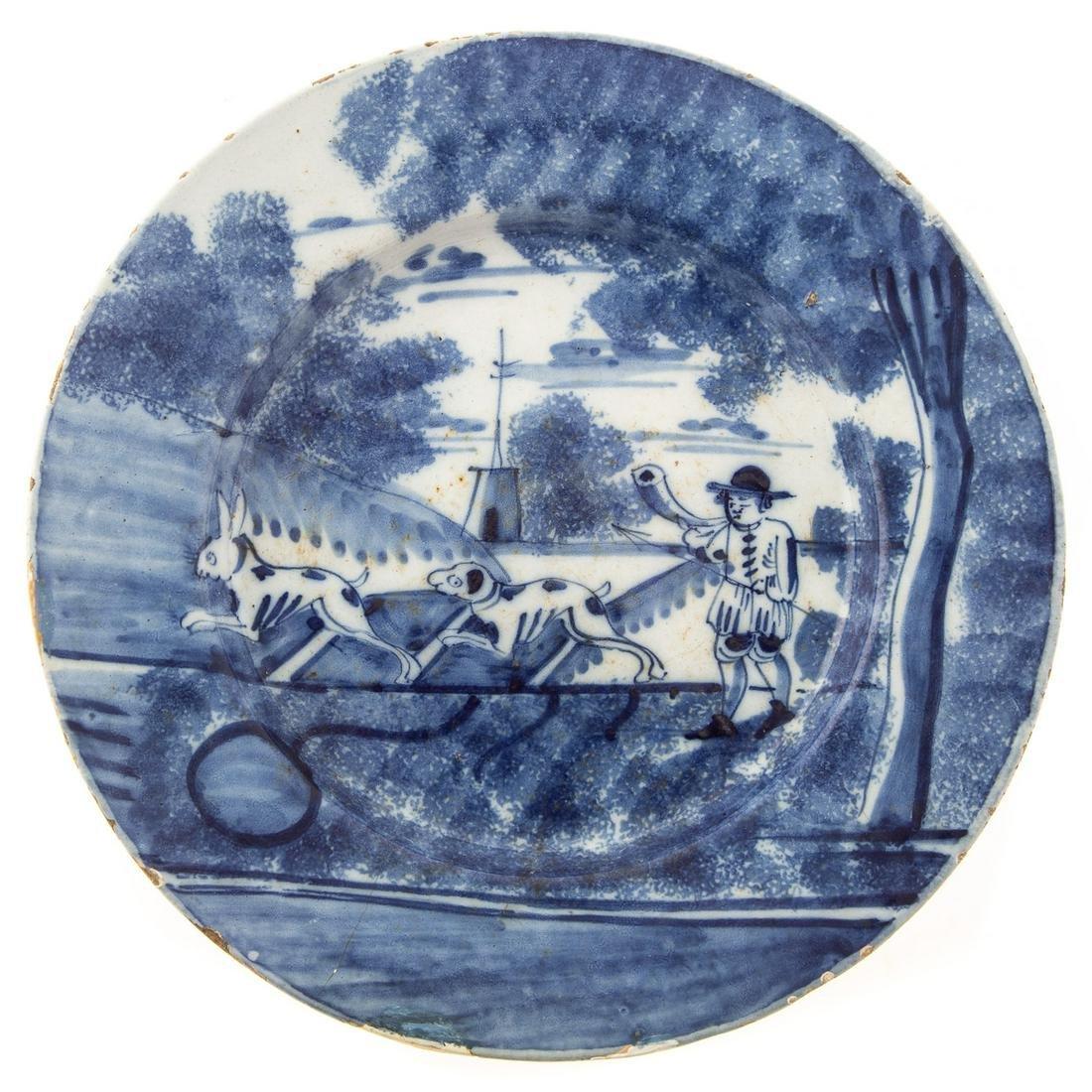 Liverpool Blue/White Delftware Plate