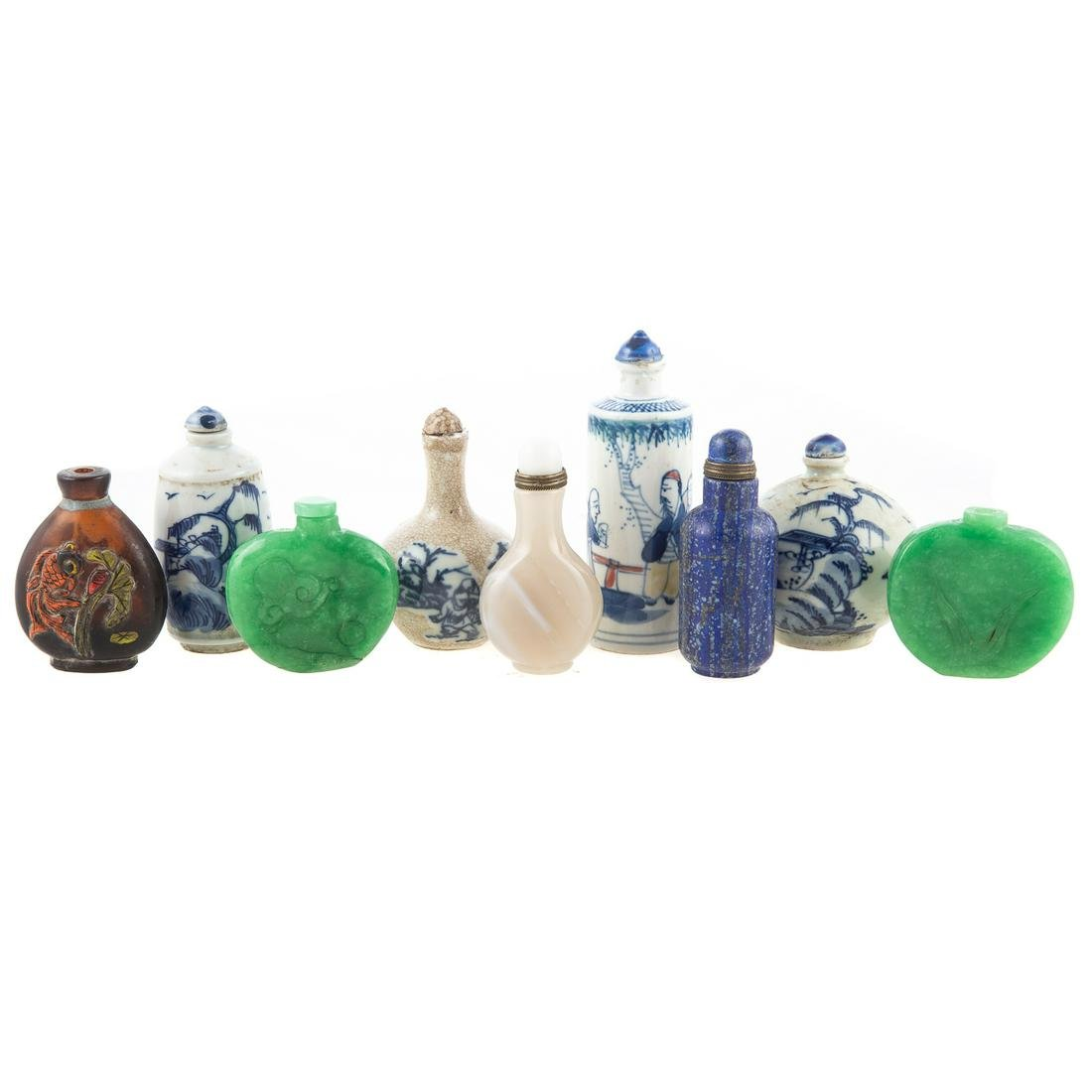 Nine Assorted Chinese Snuff Bottles