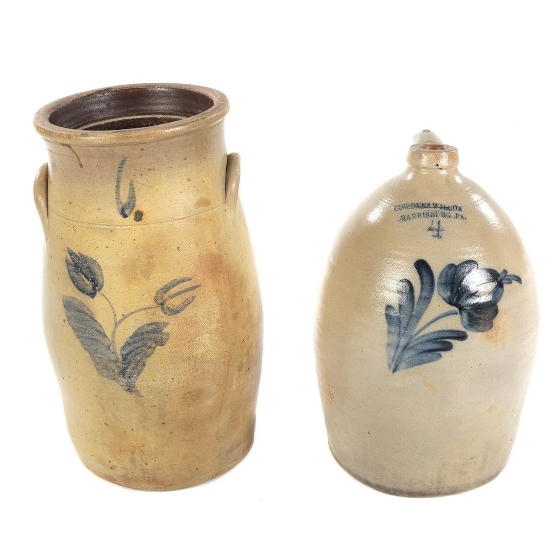 Salt Glaze Stoneware Crock & Churn