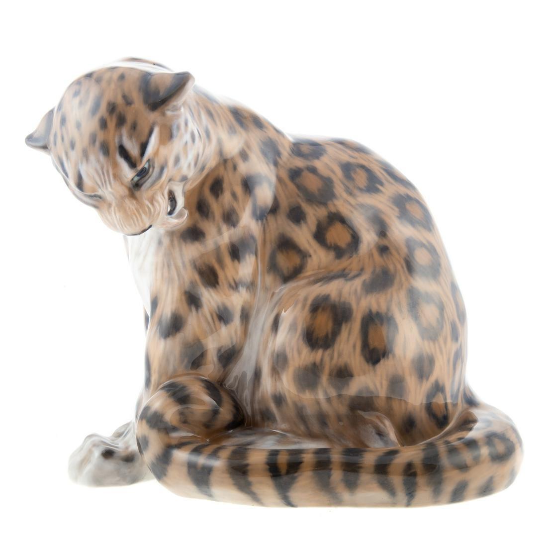 Royal Copenhagen Porcelain Snow Leopard