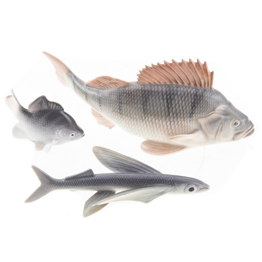 Three Royal Copenhagen Fish