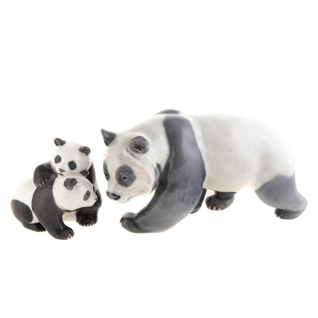 Two Royal Copenhagen Pandas