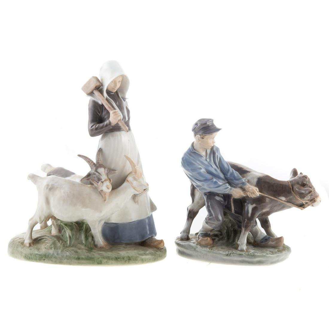 Two Royal Copenhagen Figure Groups