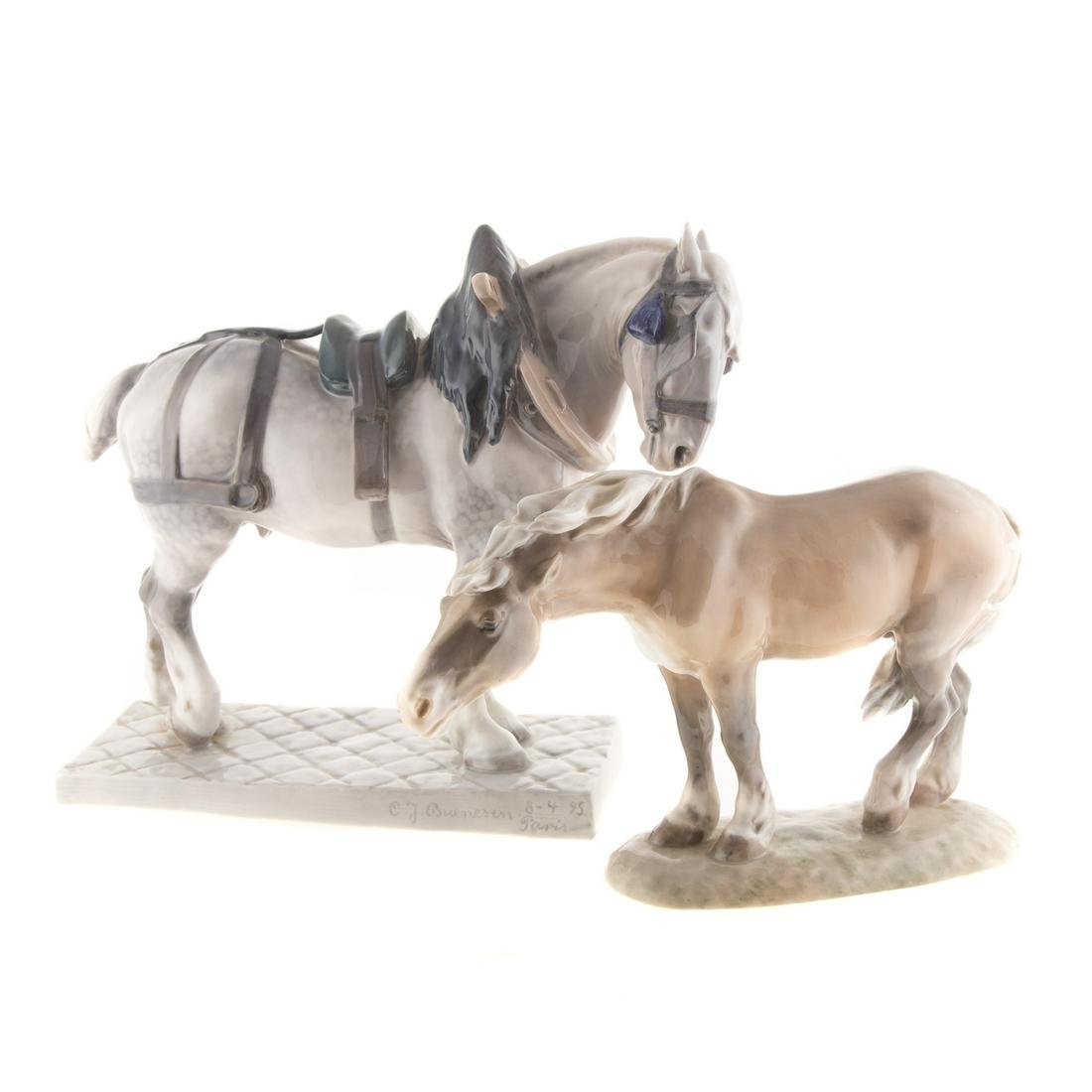 Two Royal Copenhagen Horses