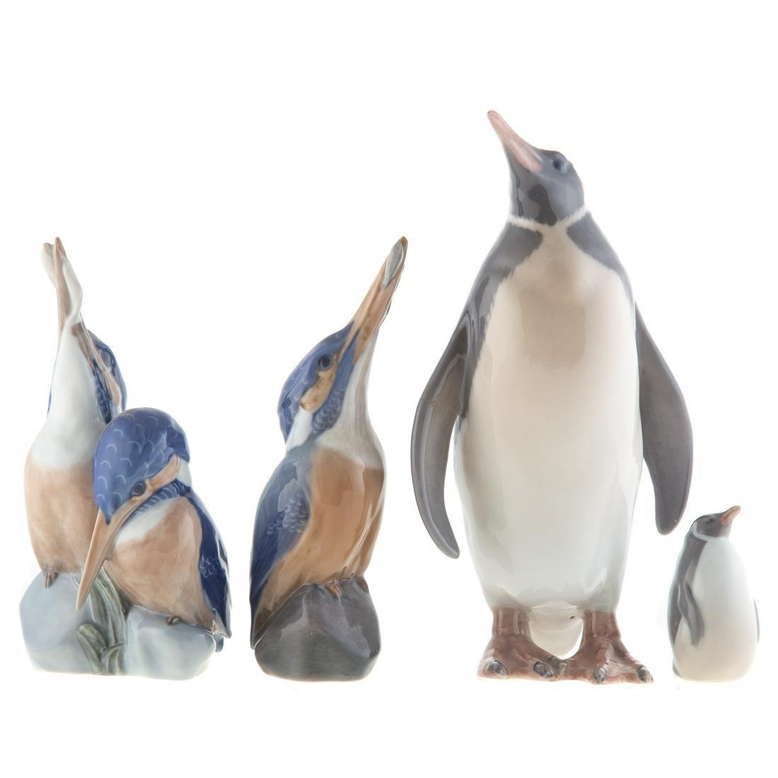 Four Royal Copenhagen Porcelain Birds