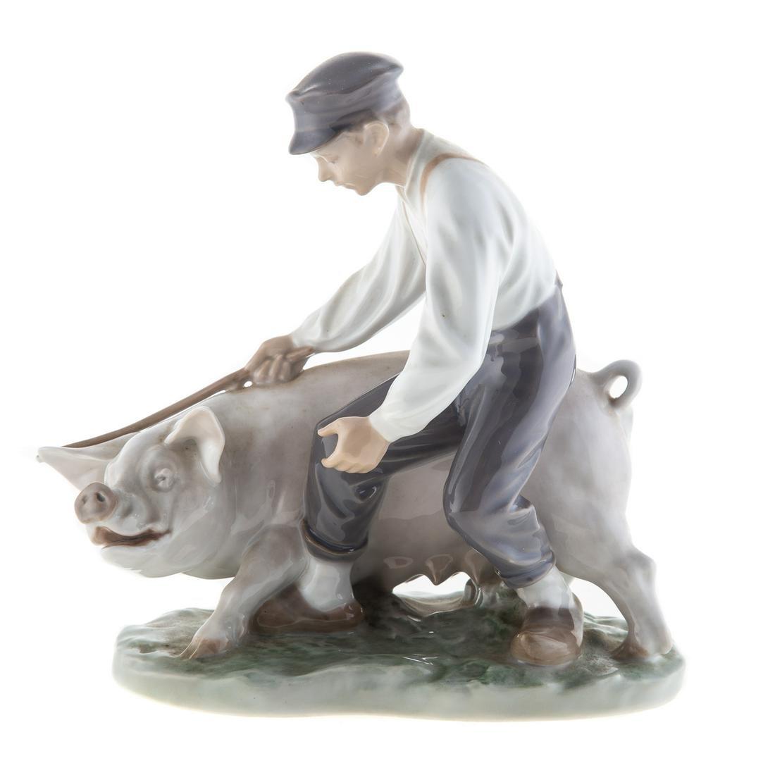 Royal Copenhagen Boy With Pig