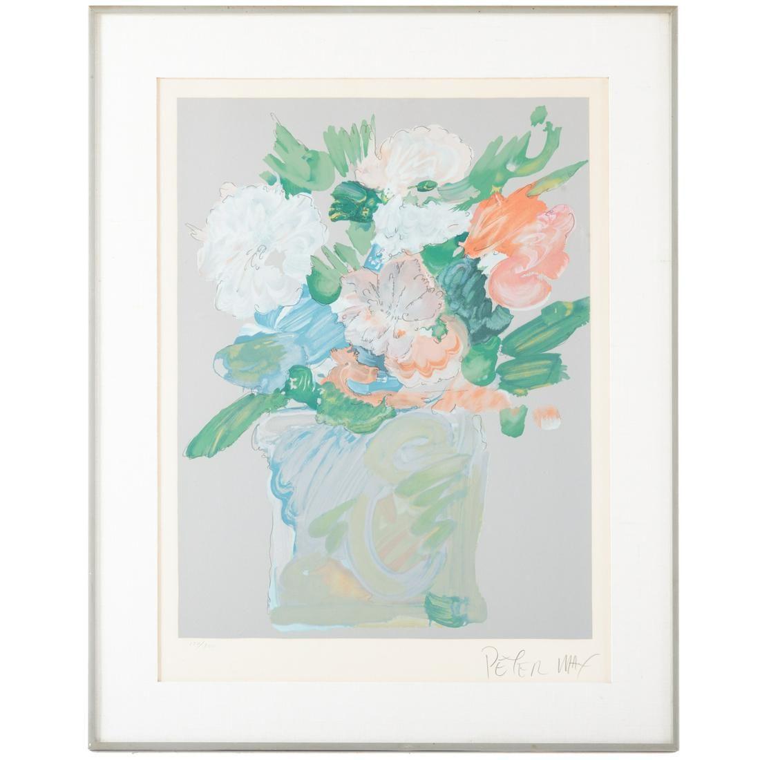 Peter Max. Vase Of Flowers