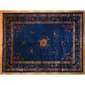 Antique Nichols Carpet, China, 10 x 13.5