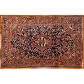 Antique Kashan Rug, Persia, 4.4 x 6.9