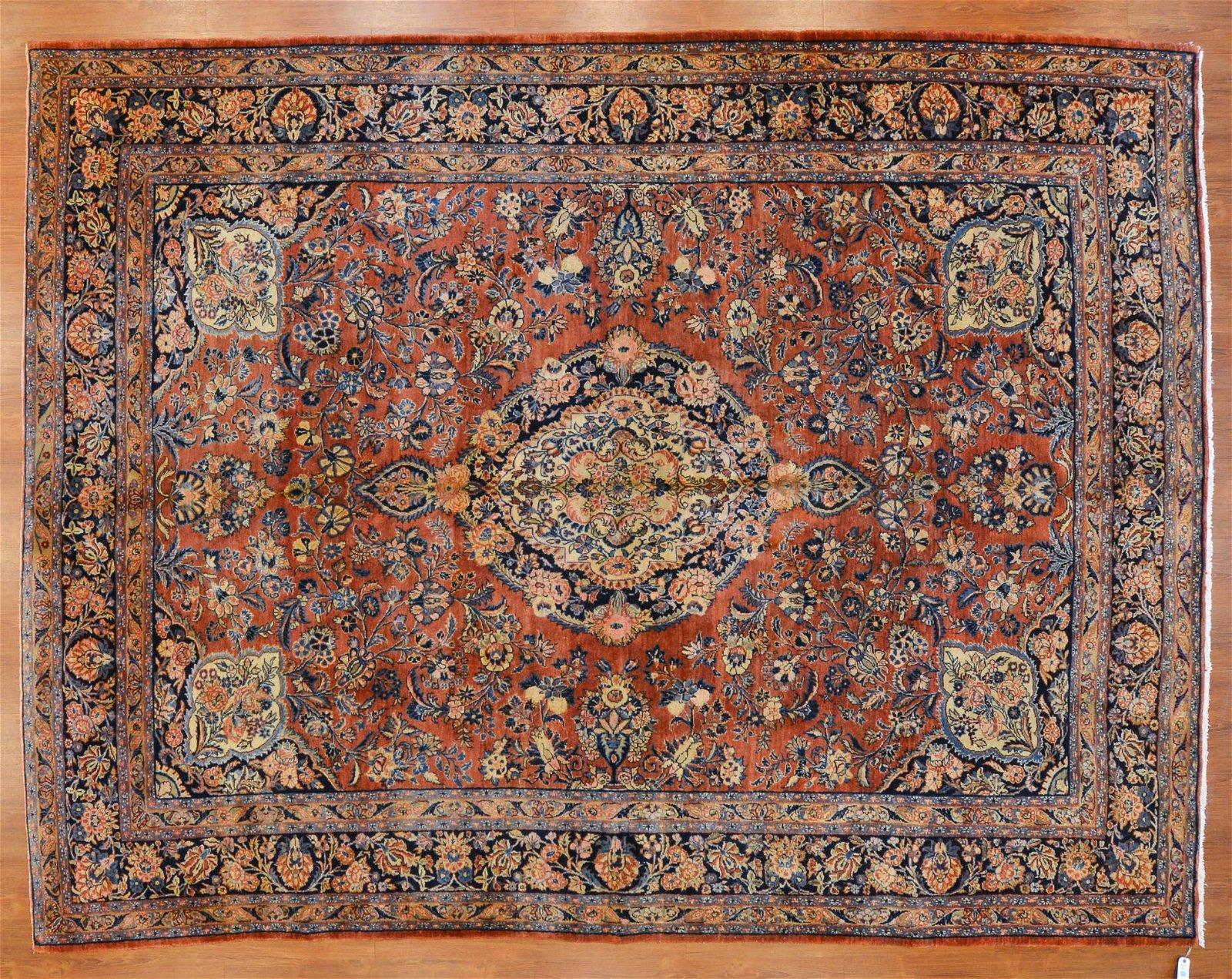 Semi-Antique Kazvin Rug, Persia, 8.9 x 11.7