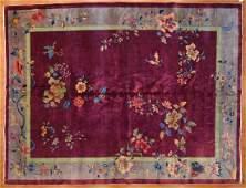 Antique Nichols Carpet, China, 9.1 x 11.9