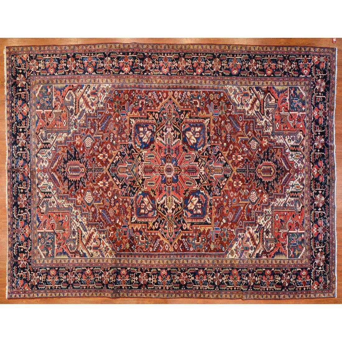Semi-Antique Heriz Rug, Persia, 9.1 x 11.8