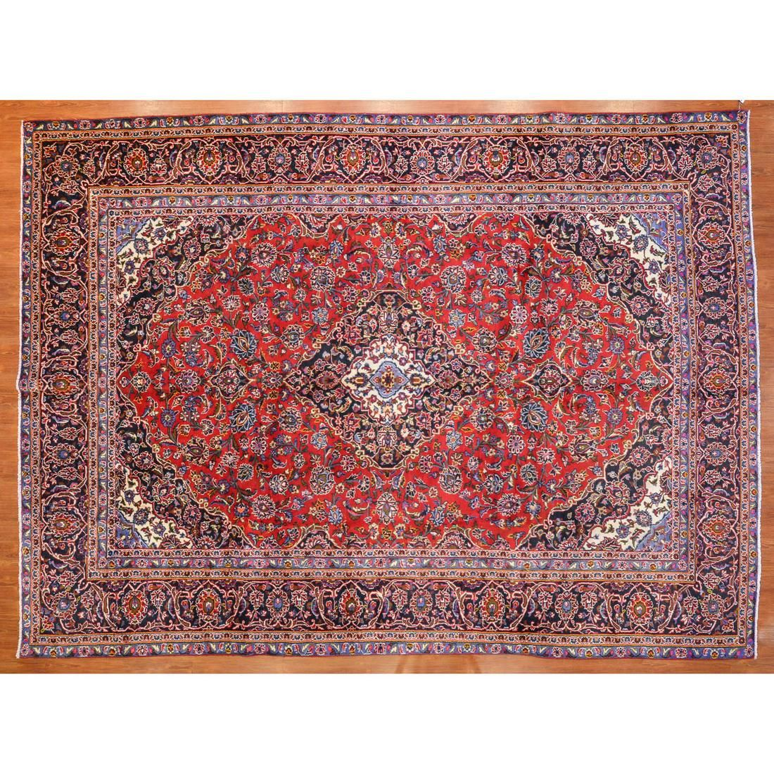 Kashan Carpet, Persia, 9.2 x 12.6