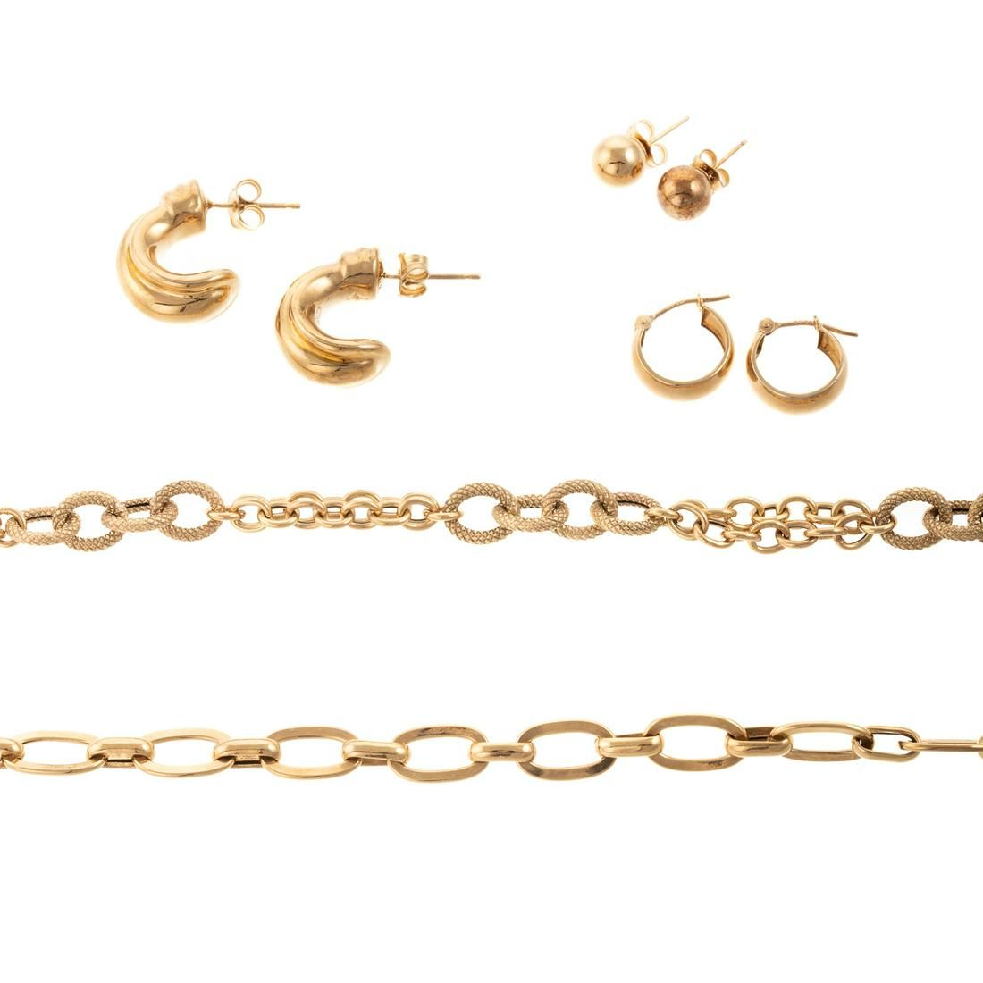 A Collection of Jewelry in 18K & 14K Yellow Gold