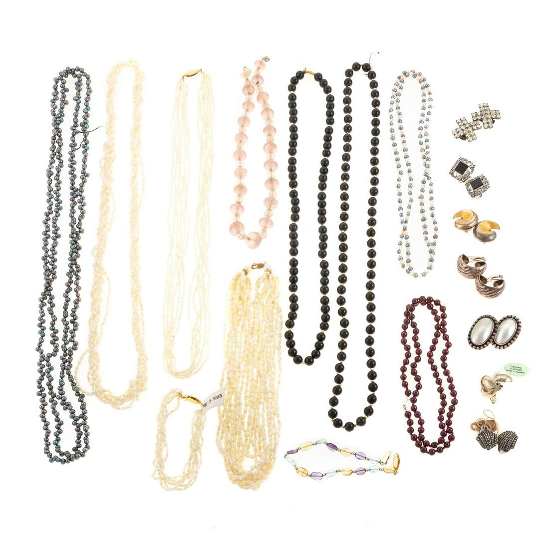 A Collection of Pearl & Gemstone Beaded Necklaces