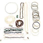 An Assortment of Pearl & Gemstone Jewelry