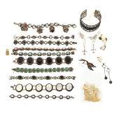 A Collection of Silver Marcasite Jewelry