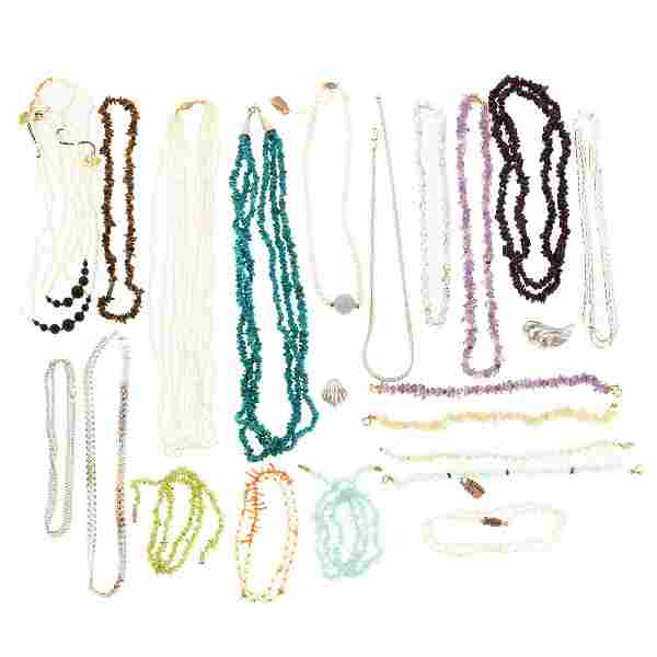 A Collection of Silver & Gemstone Jewelry