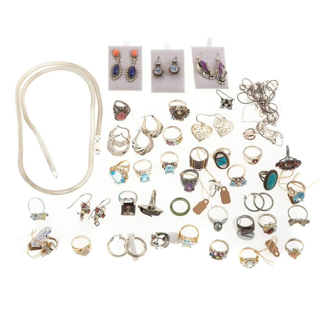 A Collection of 14K & Silver Jewelry