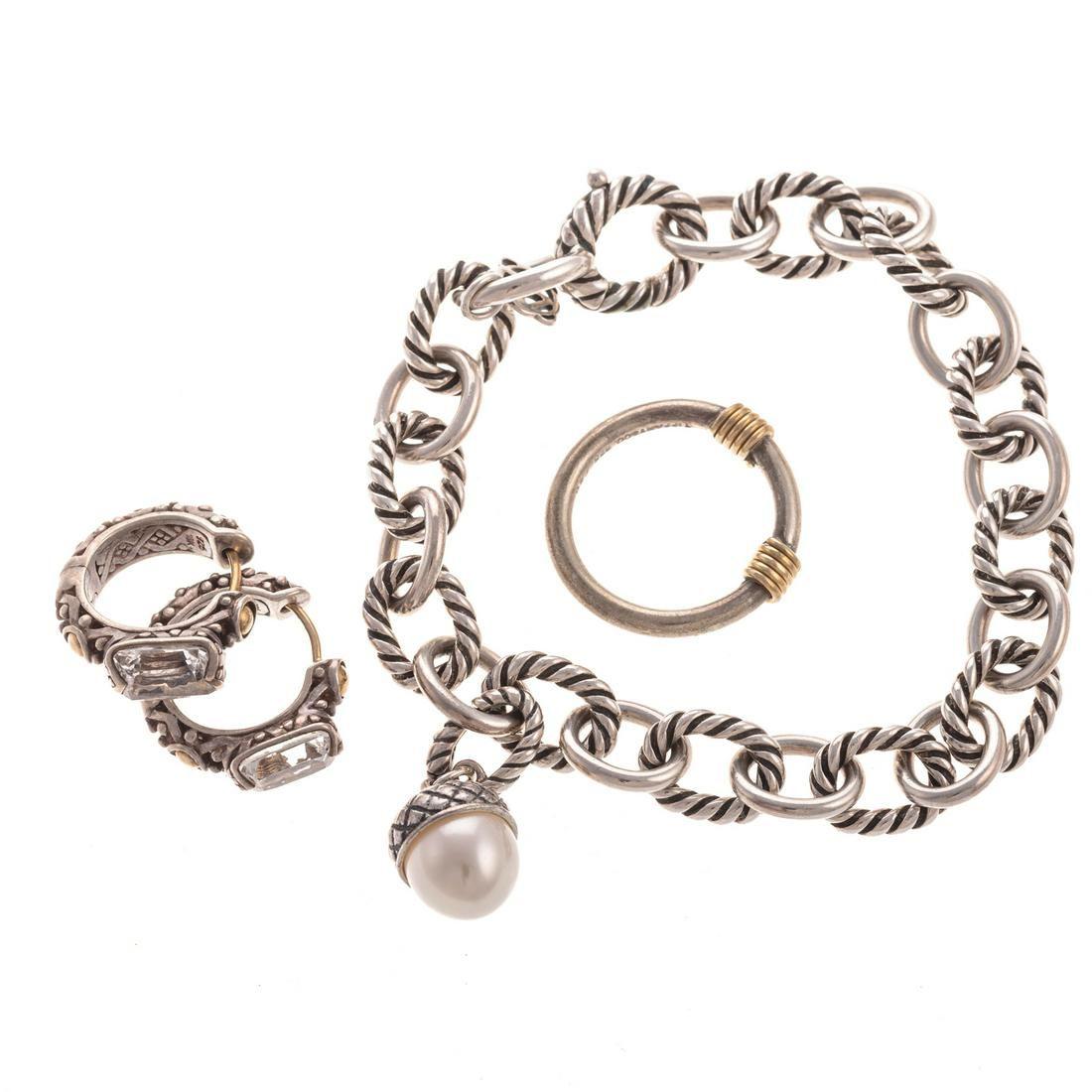 A Tiffany & Co. Ring with David Yurman Bracelet