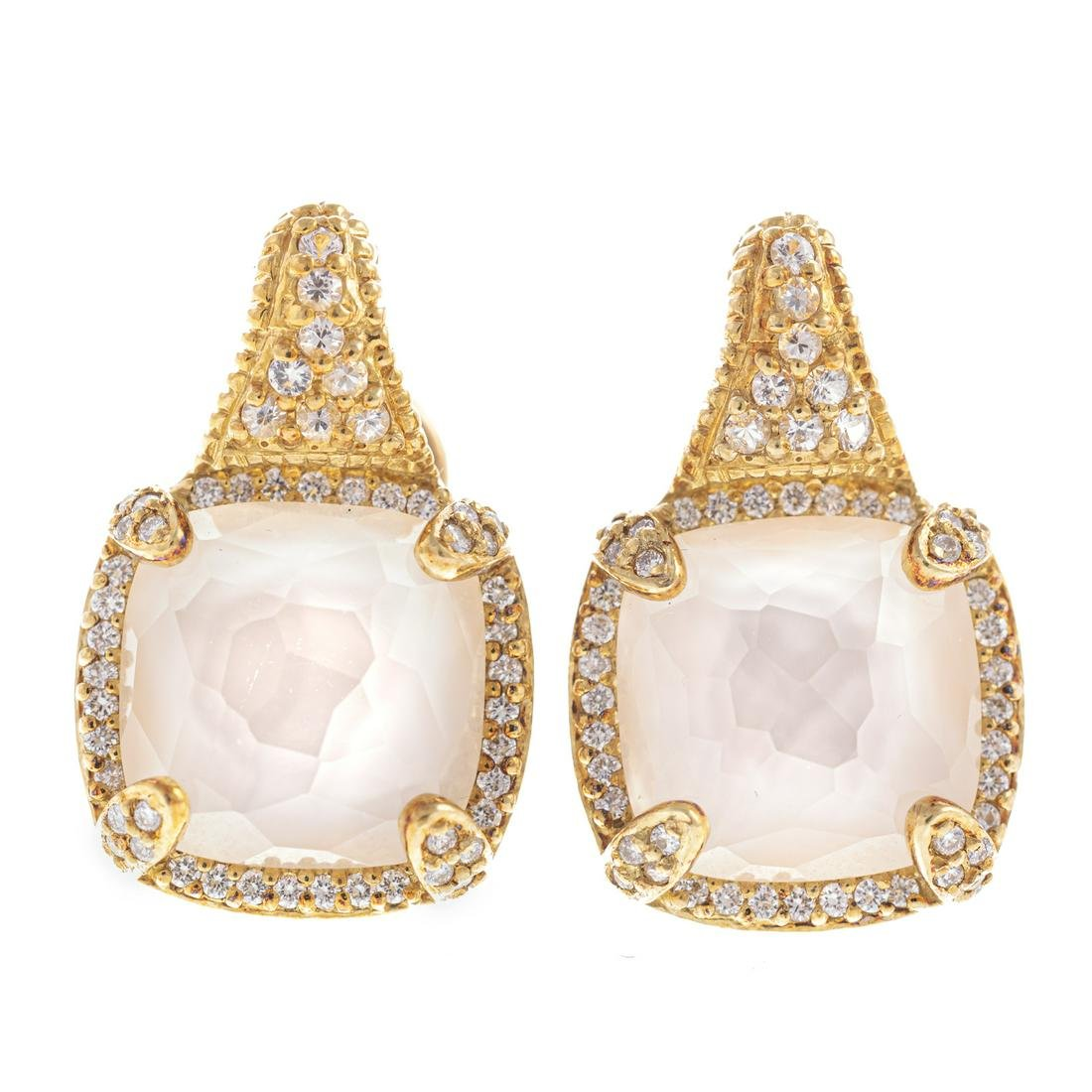 A Pair of Judith Ripka Diamond Earrings