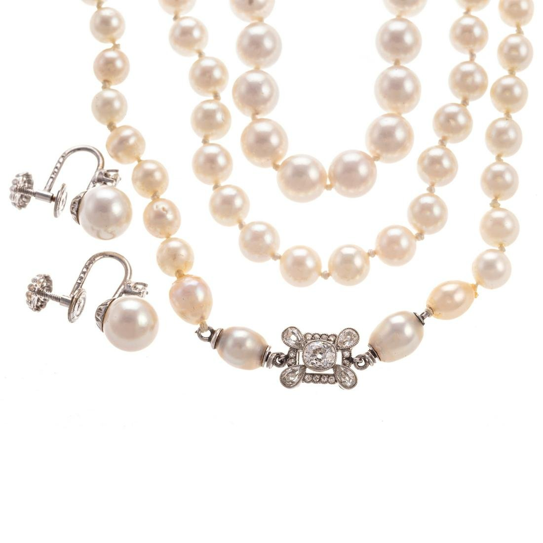 A Collection of Pearl Jewelry in 14K