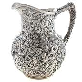 S. Kirk & Son Sterling Repousse Water Pitcher