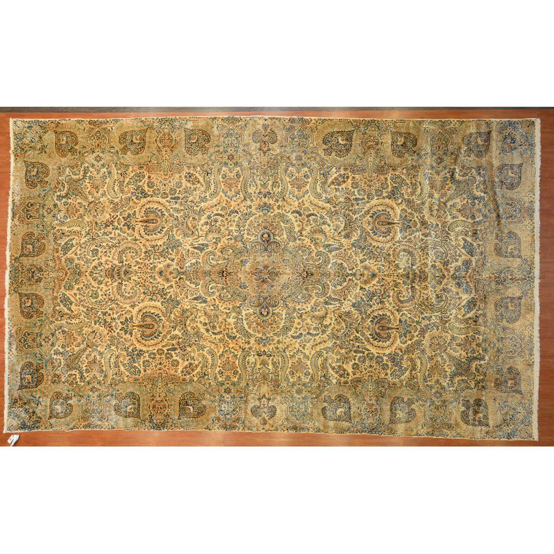 Semi-Ant Lavar Kerman Carpet, Persia, 10.8 x 17.11