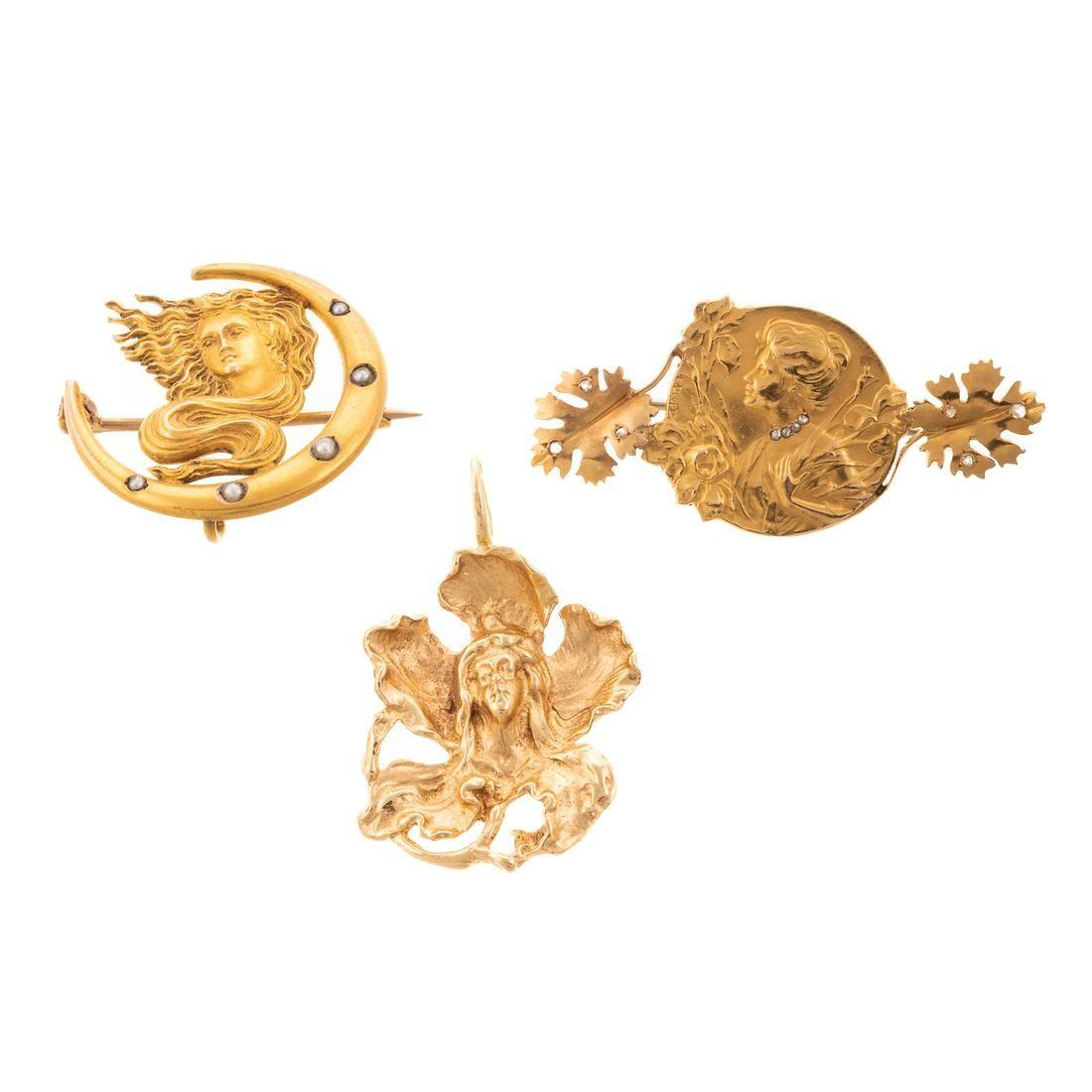 Collection of Three Art Nouveau Pieces