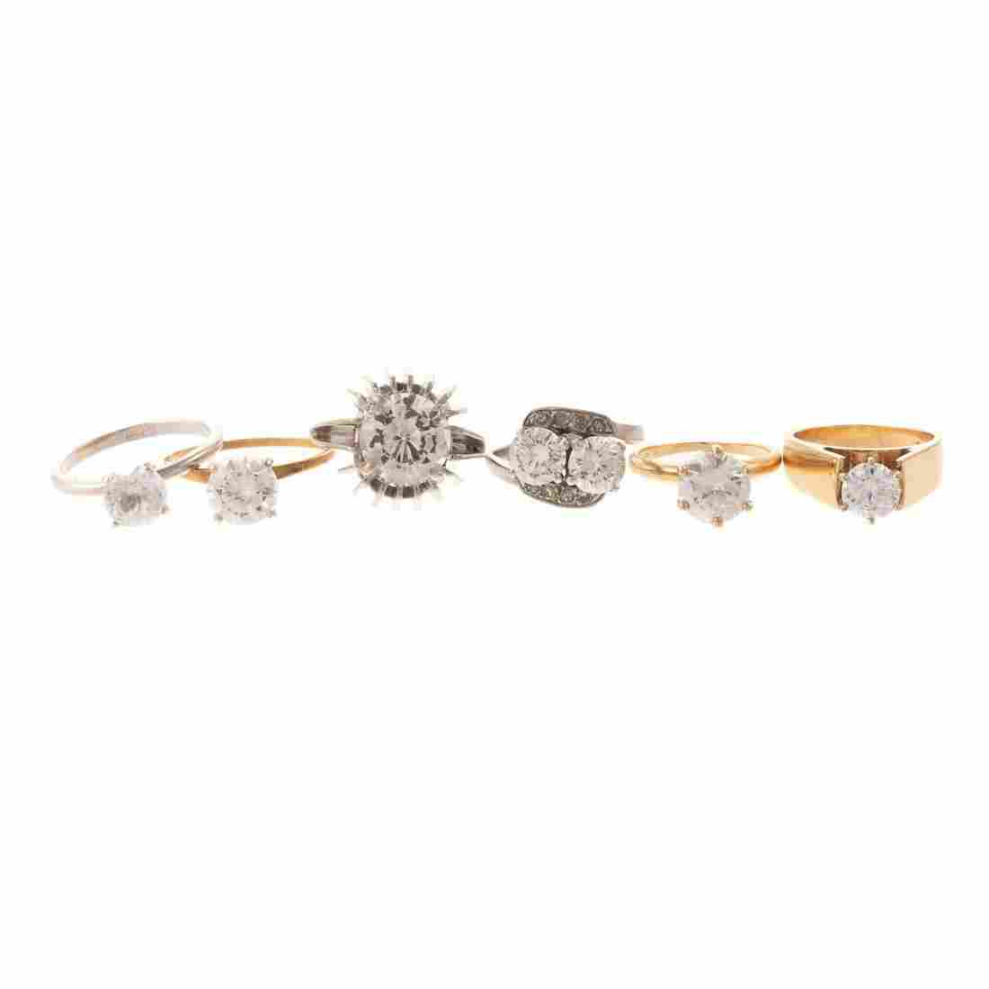 Collection of Lady's Fashion Rings in Gold