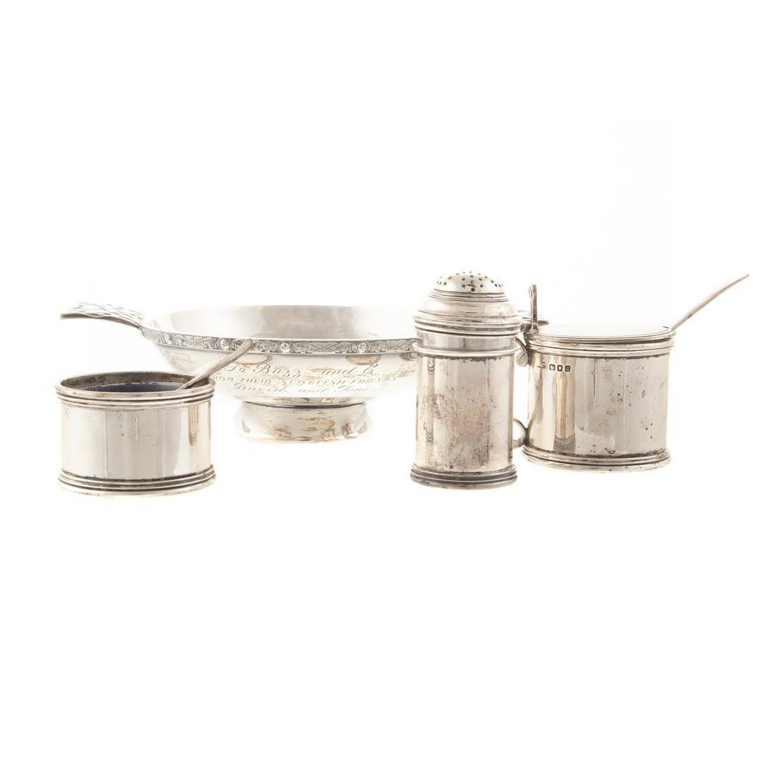 Four Pieces English Silver