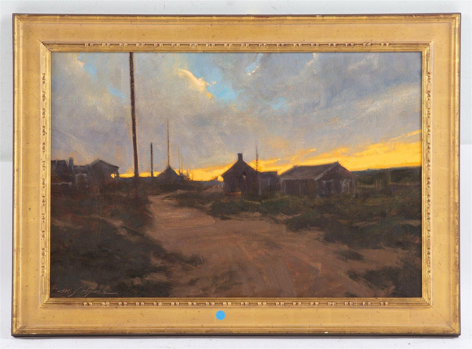 "Michael J. Lynch.""Nantucket Sunset,"" Oil"