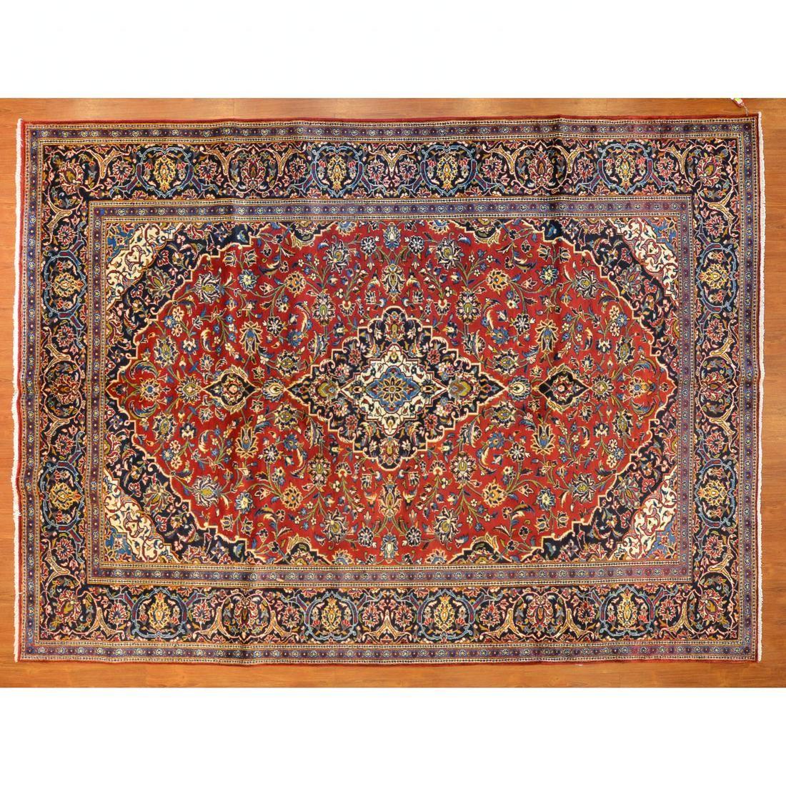 Kashan Rug, Persia, 8.9 x 12
